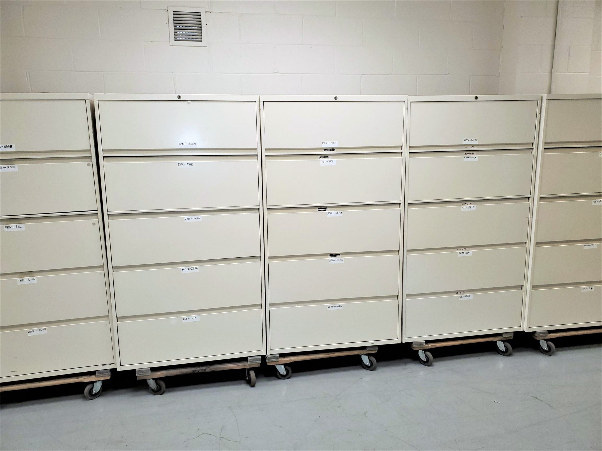 3 drawer lateral files used