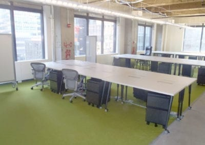 Facebook NYC Benching Cubicles
