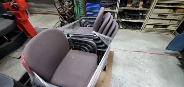 grey stackable chairs